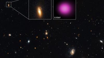 Ein riesiges Schwarzes Loch ist ausgebrochen und zerstört alles in seinem Weg