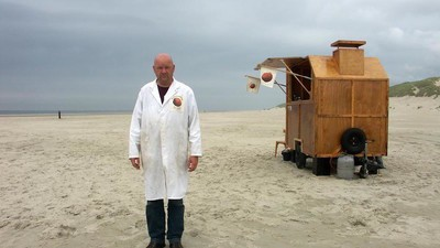 Ontmoet de man die helemaal naar de Zuidpool wil reizen om patat te bakken