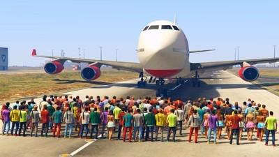 Wie viele Leute braucht man, um einen Jumbojet in 'GTA 5' zu stoppen?