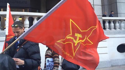 I Went to a Stalinist Free-Speech Protest to Defend Russia Today from Natwest
