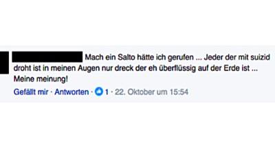 Das Internet platzt vor menschenverachtetenden Kommentaren zum Suizid in Schmölln