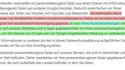 Google hat unbemerkt begonnen, ein wichtiges Datenschutz-Versprechen zu brechen