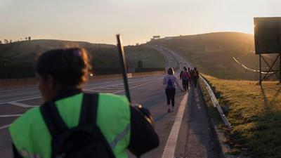 Andamos 170 km com as romeiras até Aparecida do Norte