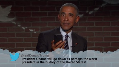 Obama Responded to Donald Trump's Mean Tweet on 'Jimmy Kimmel'