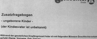 Eine Schwangere wird von einem Jobcenter in Deutschland aufgefordert, ihre Sexpartner aufzulisten