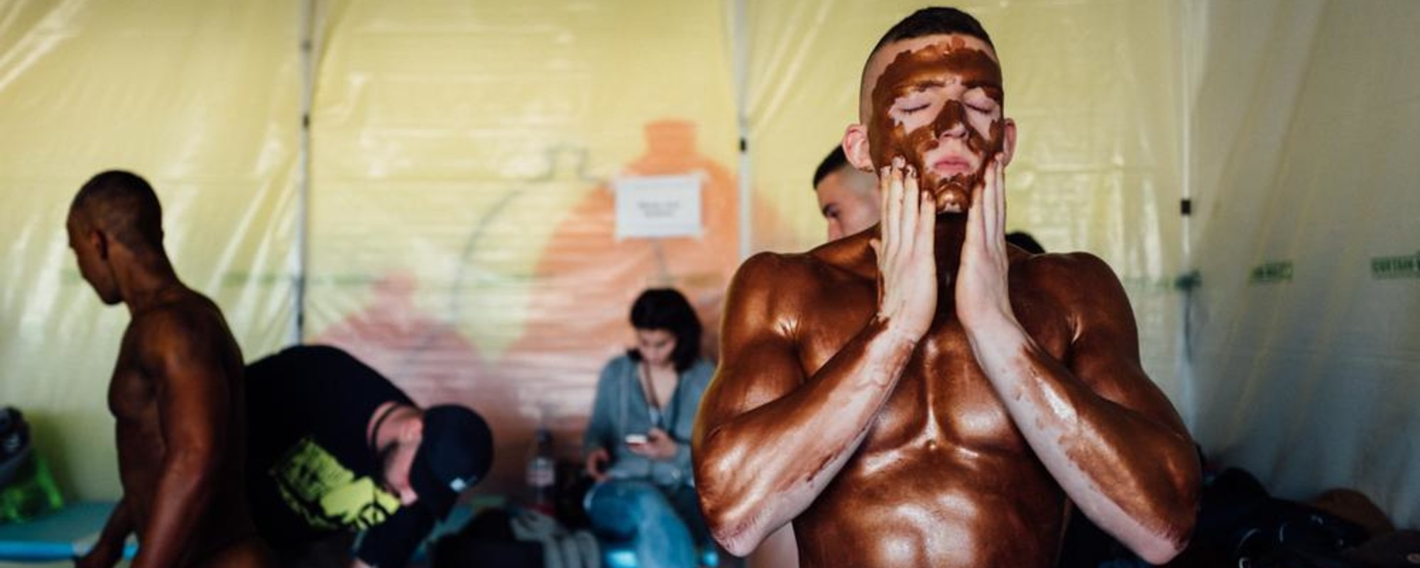 Fake Tan and Flexing Muscles: Backstage at the Swiss National Bodybuilding Championship