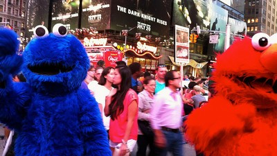 A Times Square Cookie Monster Was Stabbed Trying to Break Up a Halloween Brawl