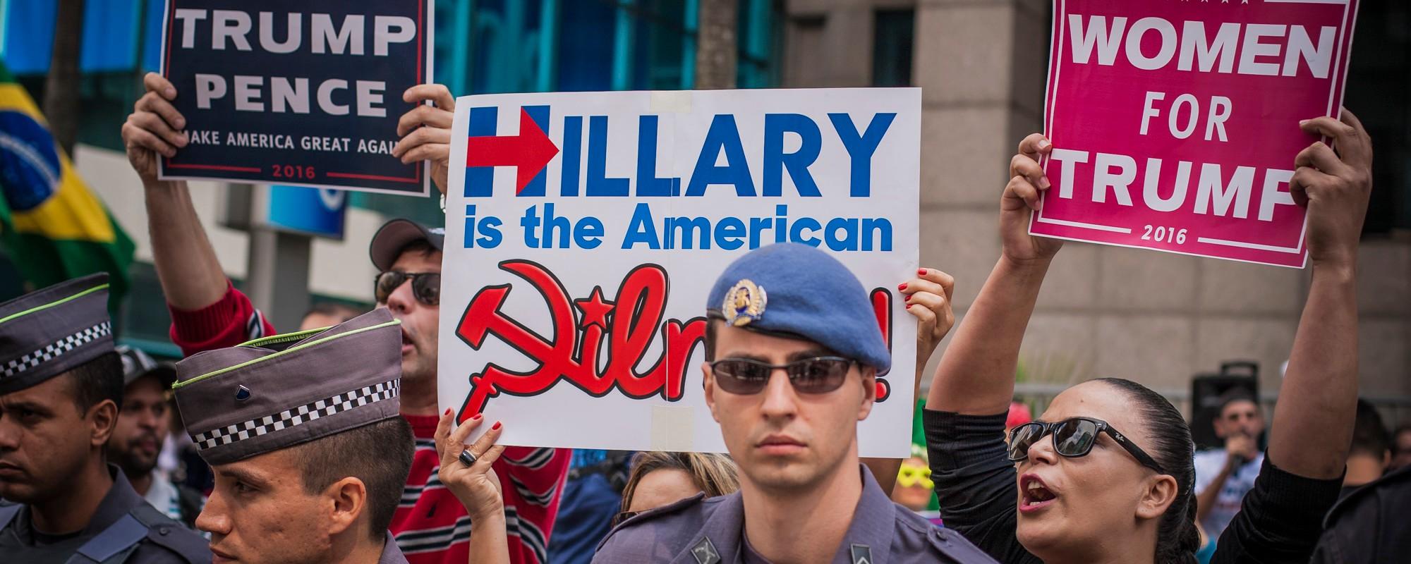 A manifestação pró Trump em SP terminou em confusão