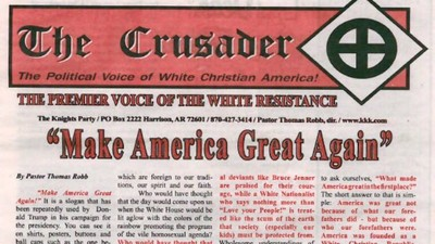 The KKK's Newspaper Wants Trump to Be President