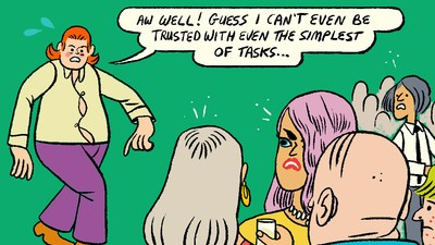 Michael Avoids Responsibility in Today's Comic by Stephen Maurice Graham