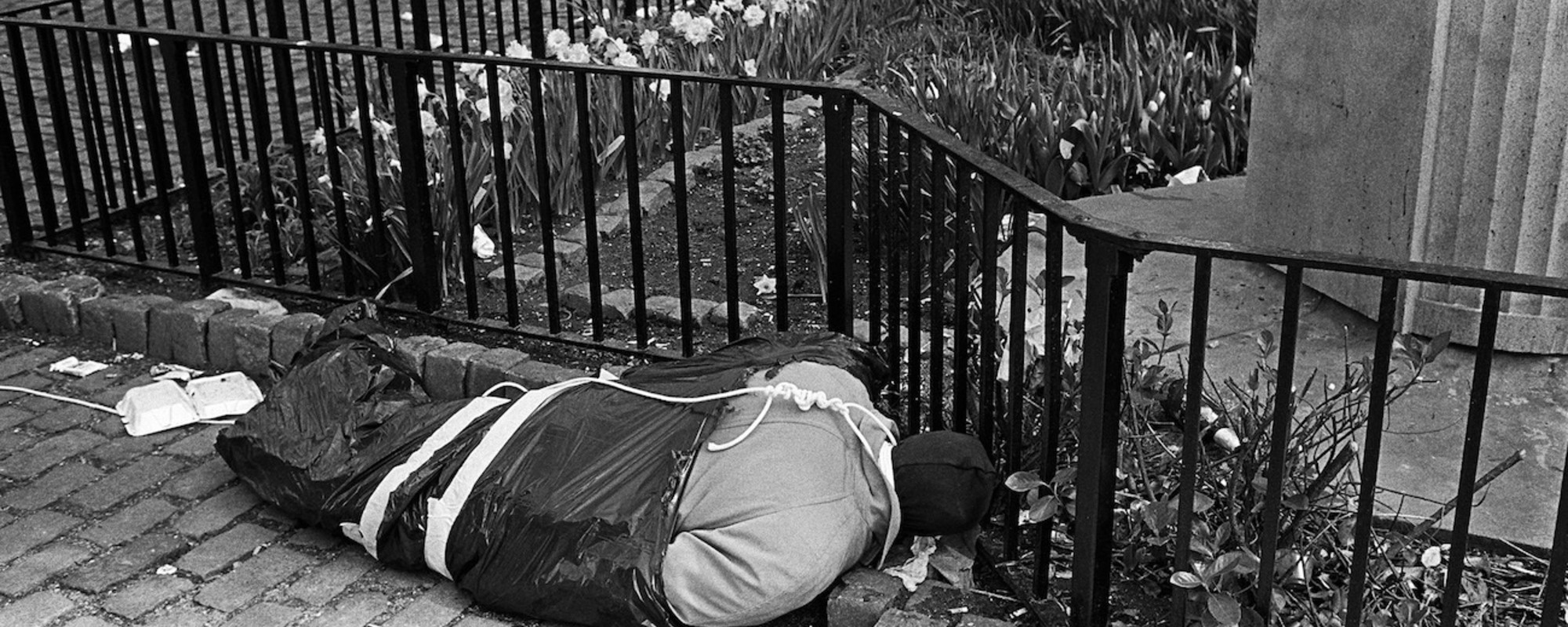 Vintage foto's van Boston en New York die eruitzien als 'stills uit een horrorfilm'