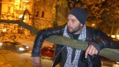 Auf einem Baum mit den hungerstreikenden Flüchtlingen in München