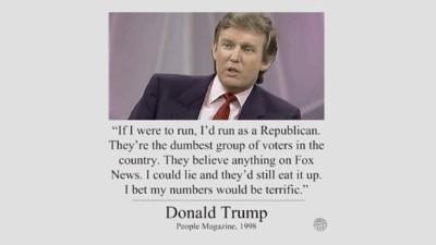 Ein für alle Mal: Das Trump-Viral über dumme Republikaner ist fake