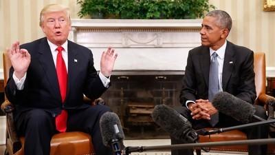 Wir haben das sonderbare Foto von Obama und Trump eingehend analysiert