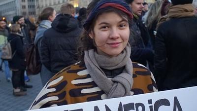Wir haben Anti-Trump-Demonstranten in Berlin gefragt, wovor sie Angst haben
