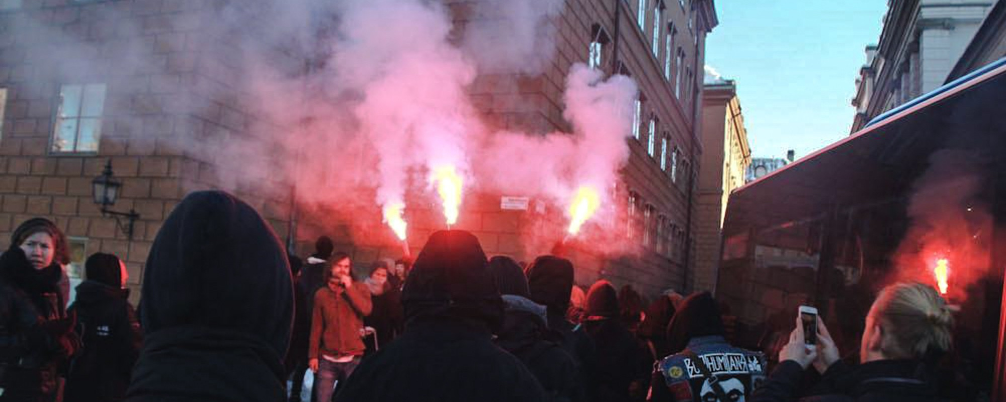 Thousands Protested Against Swedish Neo-Nazis in Central Stockholm This Weekend