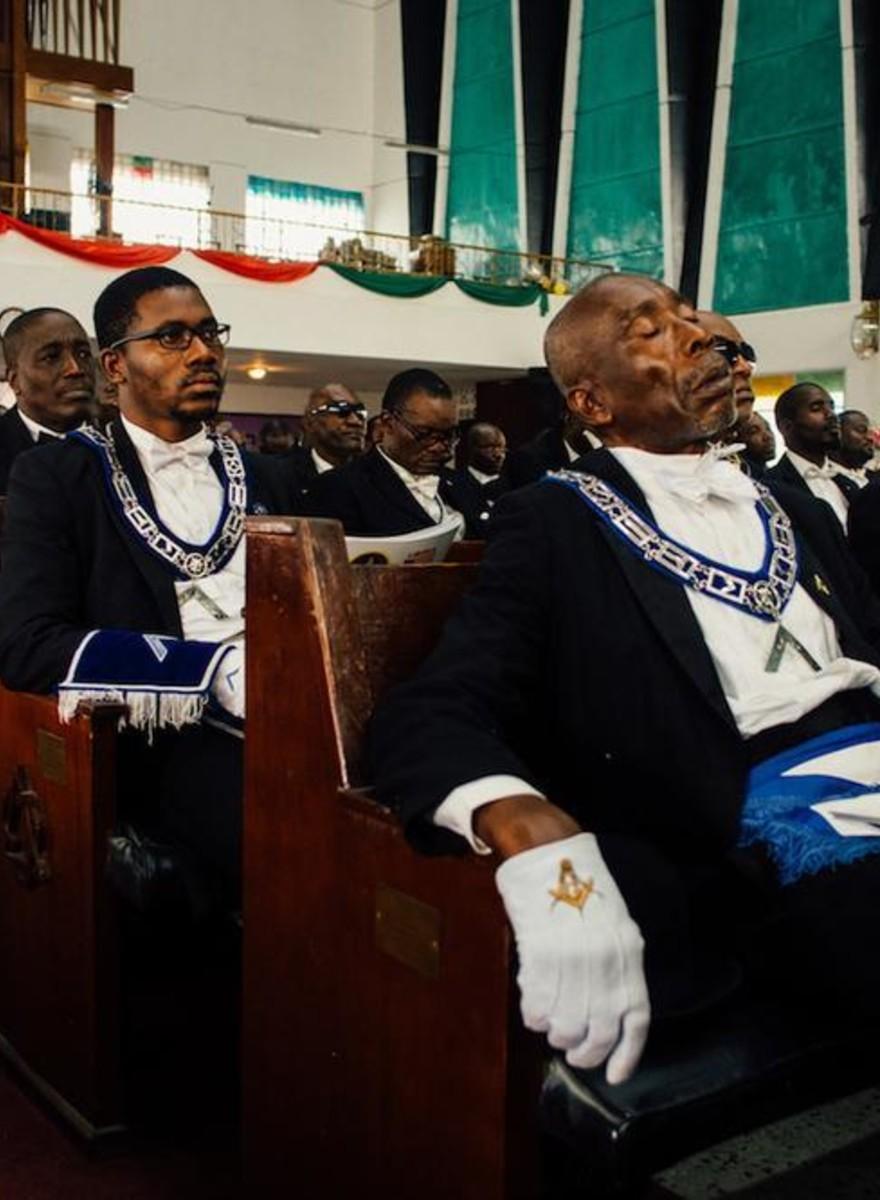 Fotos de um dia com a Ordem Maçônica da Libéria