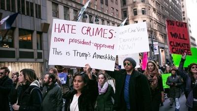 Sinds de verkiezingen zijn in de VS al ruim driehonderd haatmisdrijven gerapporteerd