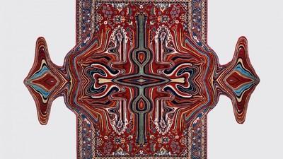 De nieuwe tapijten van Faig Ahmed glitchen de pan uit