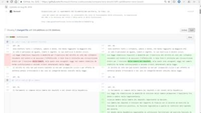 Il progetto GitHub che mette nero su bianco la riforma costituzionale