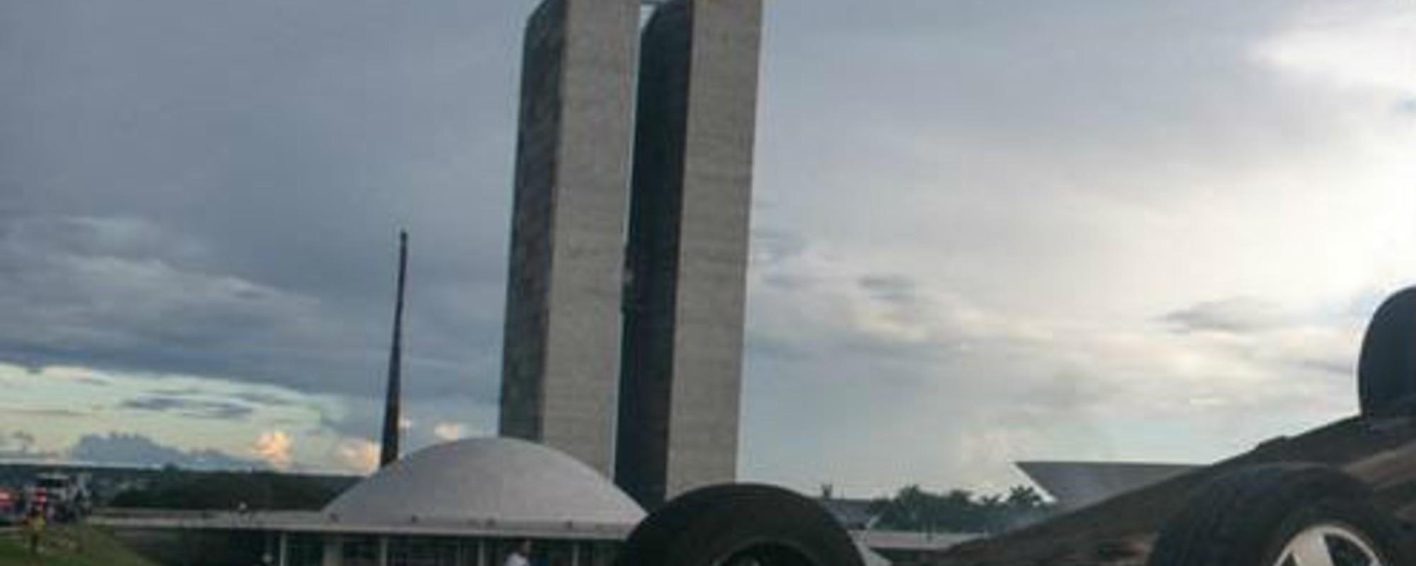 Imagens do protesto em Brasília contra a PEC 55