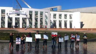 We Spoke With One of the Refugee Activists Staking Out Parliament House Right Now