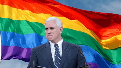 Mike Pence's New Neighbors Are Taunting Him with Rainbow Pride Flags