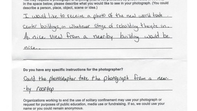 Photo Requests from Prisoners in Solitary Confinement