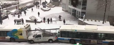 ​This Massive Slow Motion Pile Up in Montreal Is Mesmerizing