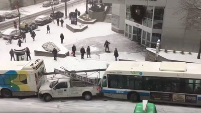 This Massive Slow Motion Pile Up in Montreal Is Mesmerizing