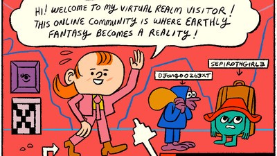'Michael in Virtual Realms,' Today's Comic by Stephen Maurice Graham