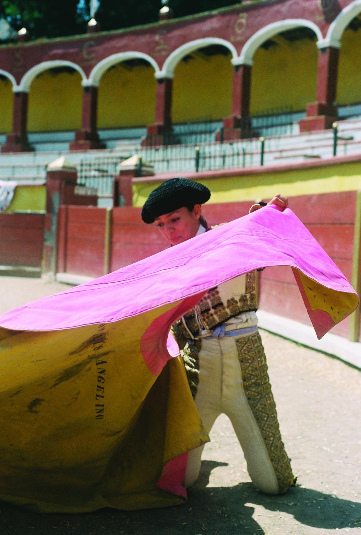 На арене вместе с одной из лучших женщин-тореадоров Мексики