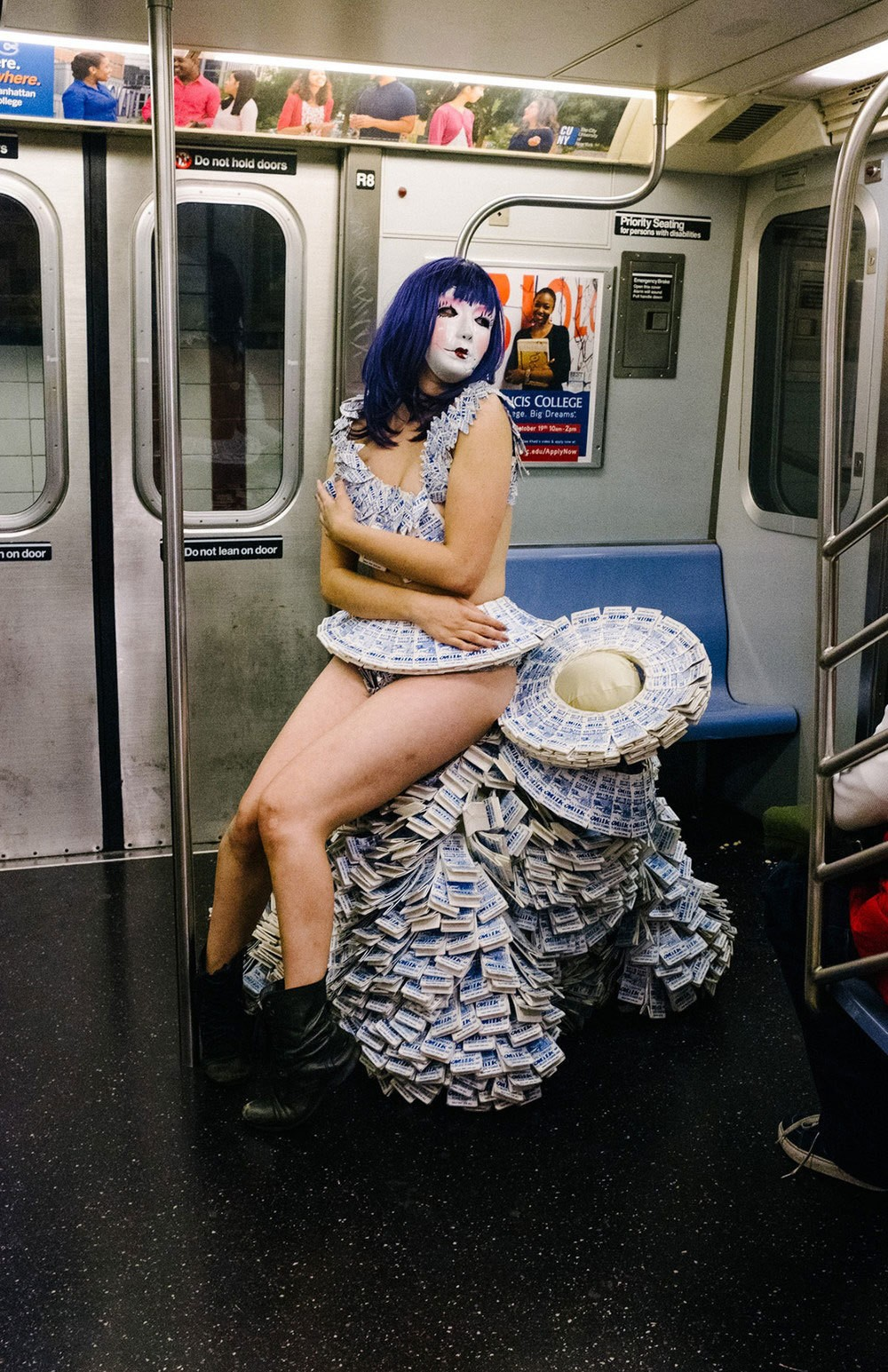 Hundreds strip for transit trips as No Pants Subway Ride