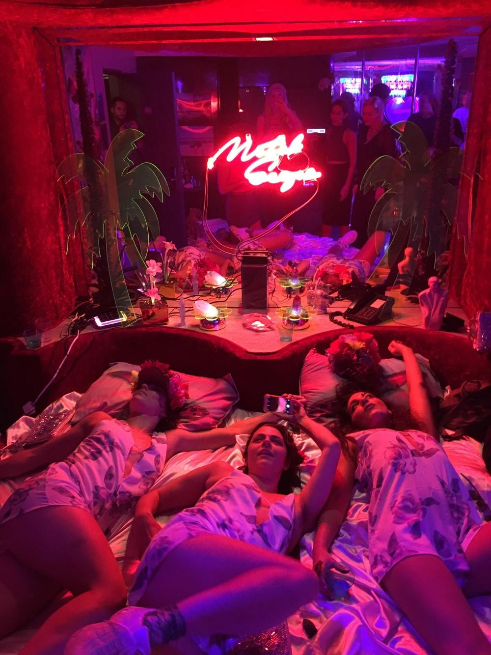 5 Female Artists collaborated to make their Plexi neon utopia. Motelscape  Is a Trippy  Neon Soaked Antidote to Boring Art Shows
