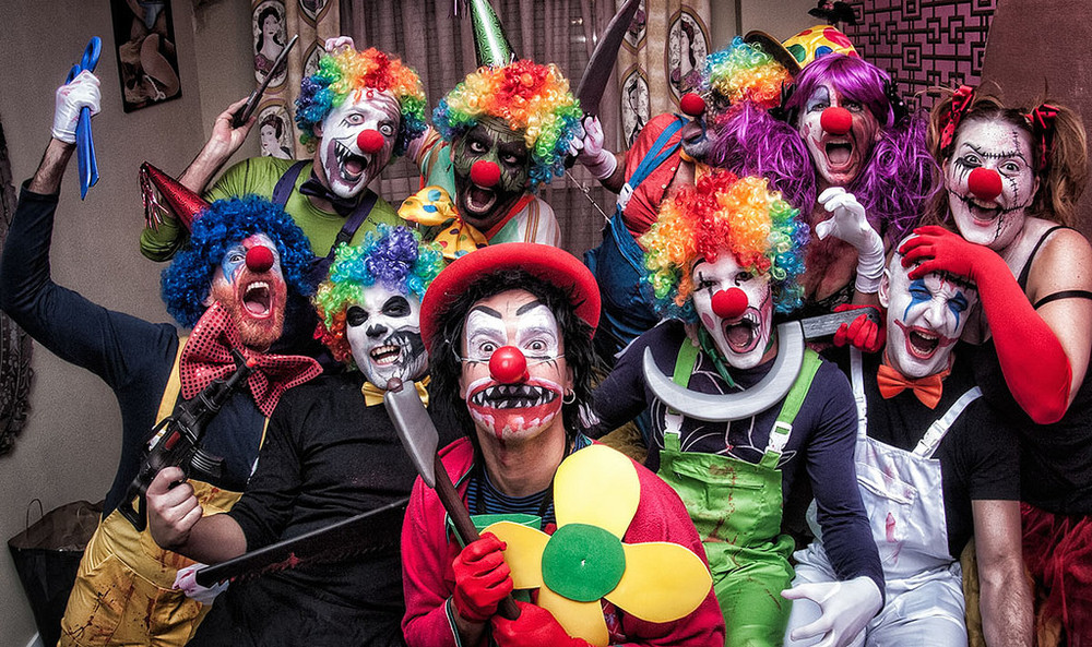 Creepy clown sightings 'not cute or funny'