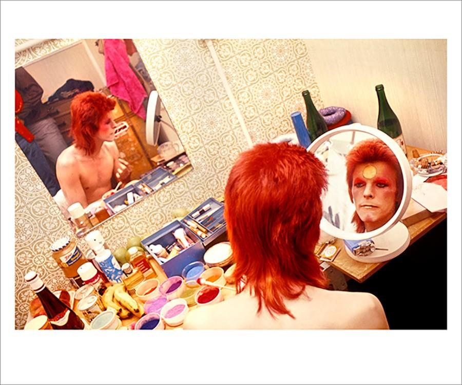 David Bowie Ziggy Backstage Makeup