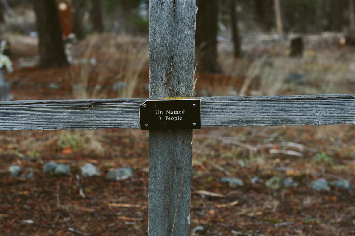 Kuburan yang tidak diberi nama dan hilang sejak 1950-an.