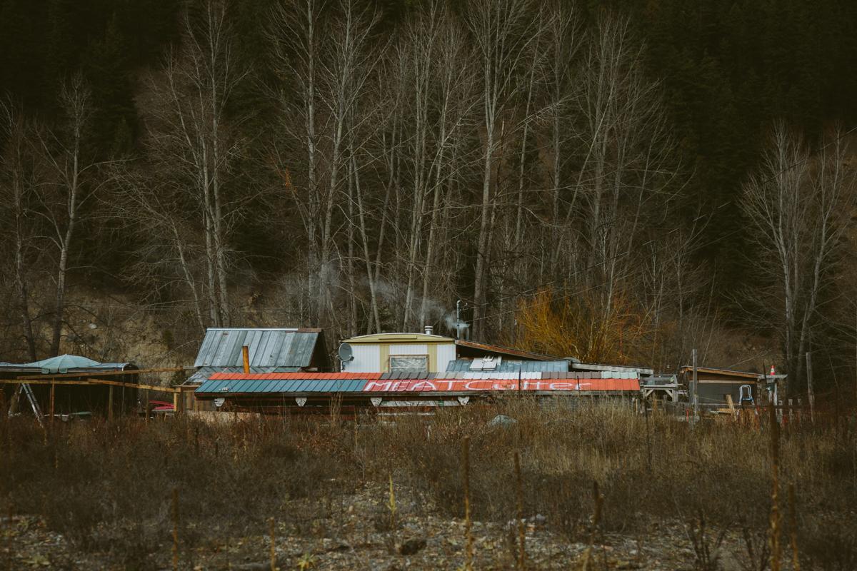 Bangunan terbengkalai di sebuah kota mati British Columbia