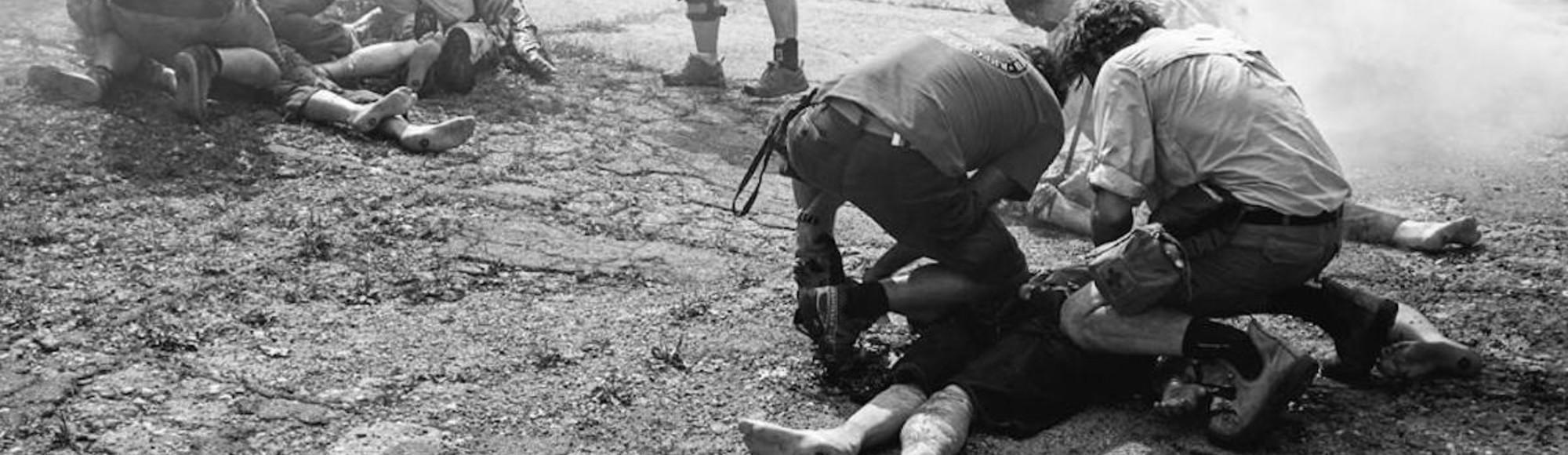 Dove i reporter di guerra imparano a sopravvivere al fronte