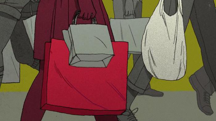 Poverty, a Teen Mom, and a Baby in a Shopping Bag