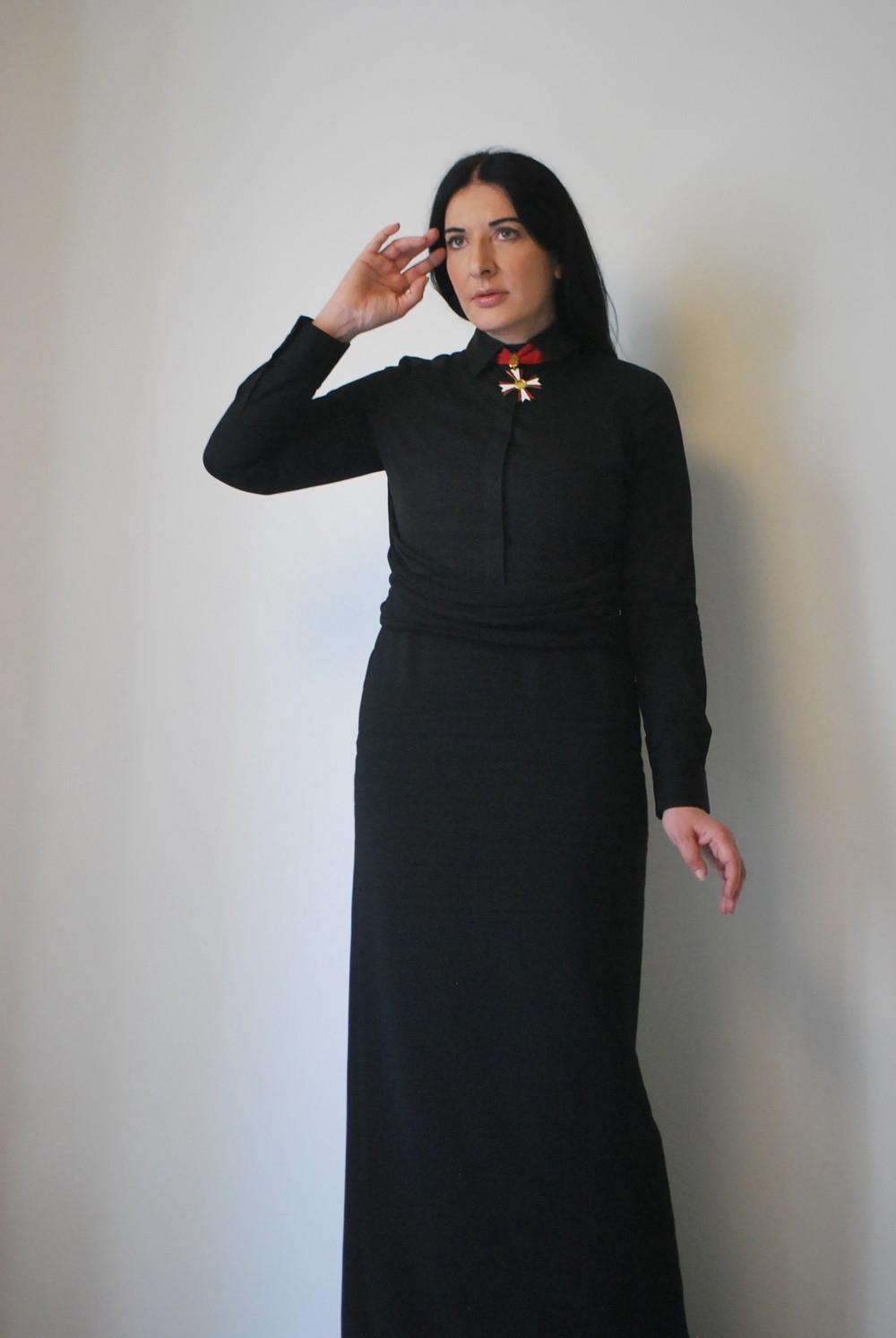 Marina Abramović in der Galerie Krinzinger in Wien