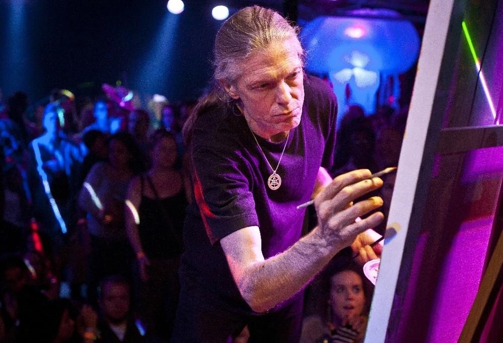 Alex Grey paints live at Visionary Arts Fair in Atlanta, GA © 2011 Monica Rose