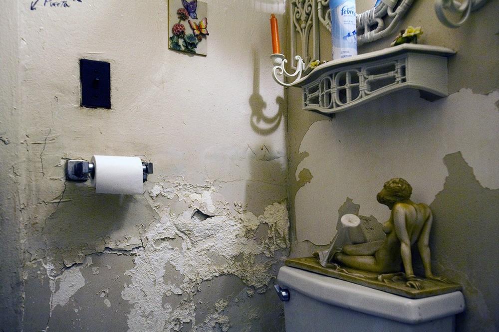 De badkamer van Bienvenido Abinader. Webseter Av., Bronx, NY, 2012.