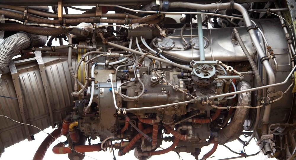 Um motor de C-130.