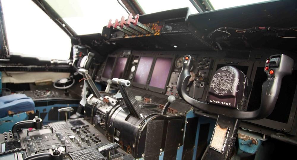 A cabine de um C-5.