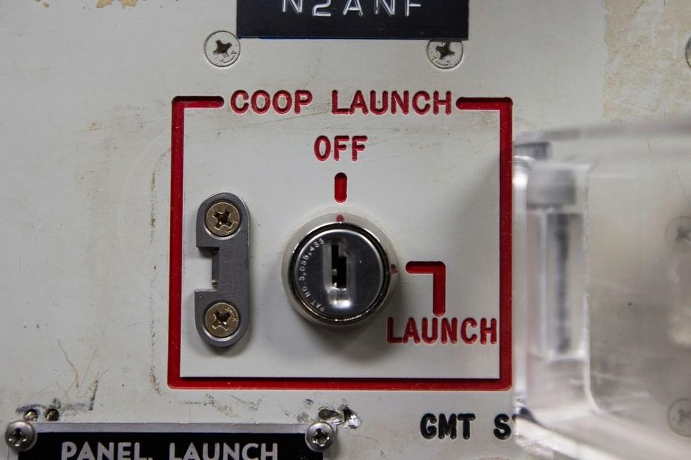 Μια από τις δύο κλειδαριές εκτόξευσης στο Delta 01-Launch Control Facility.
