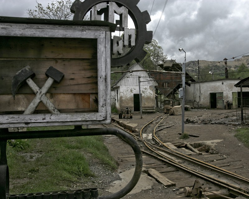 Mining workshops at Roșia Montană, closed in 2006, by Marin Raica