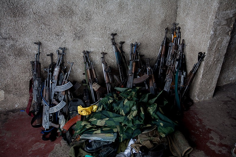 Weapons collected from surrendering police on November 21, 2012.