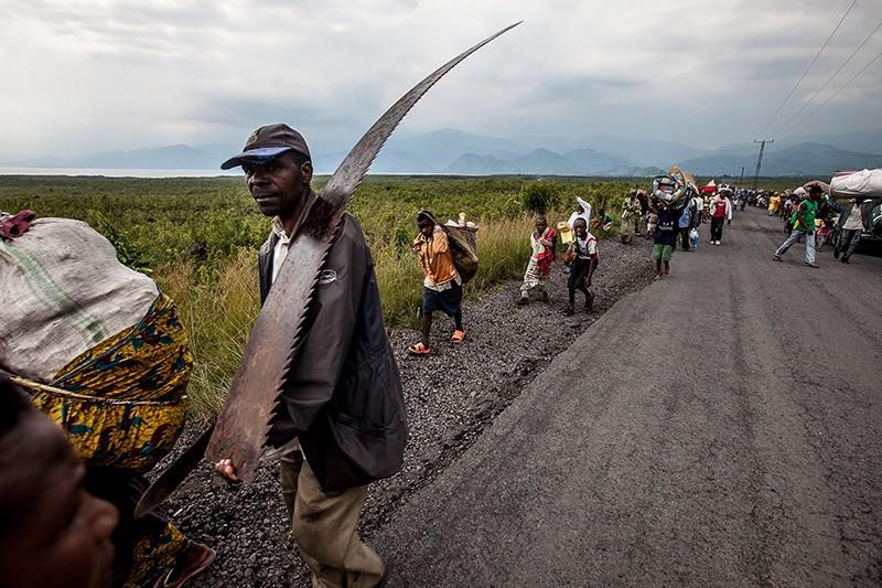 Residents of Sake flee.