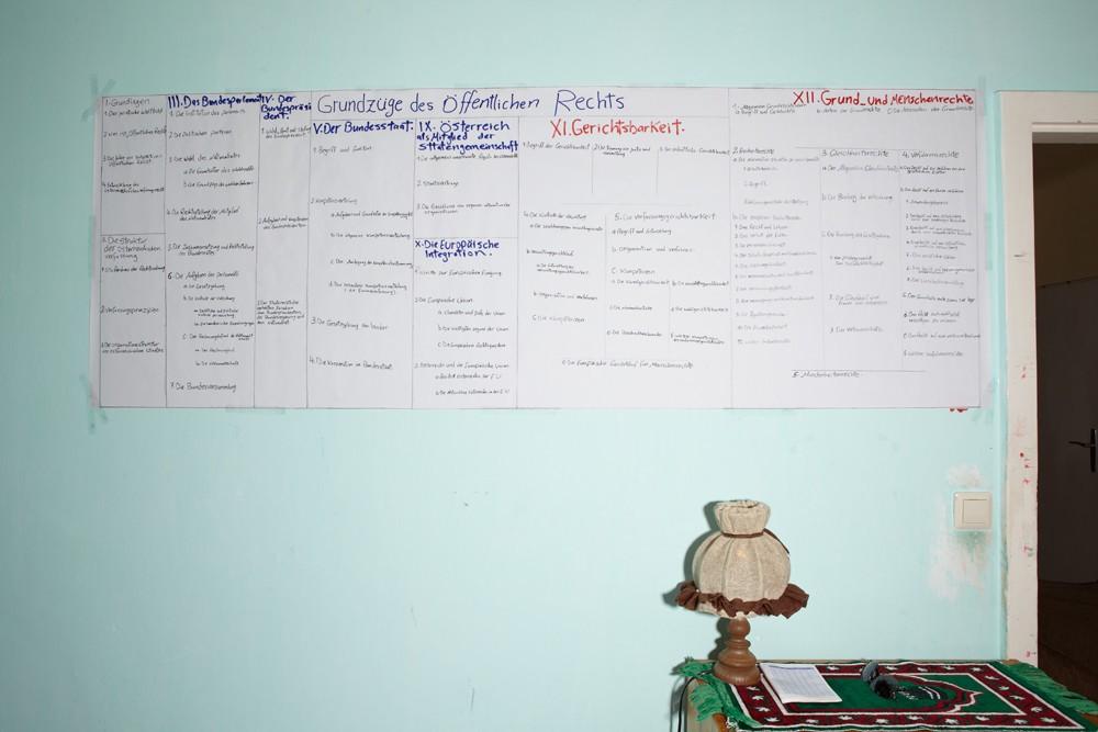 Damit Ahmeds Abschluss in Rechtswissenschaft auch in Österreich anerkannt wird, muss er noch drei Prüfungen positiv ablegen.